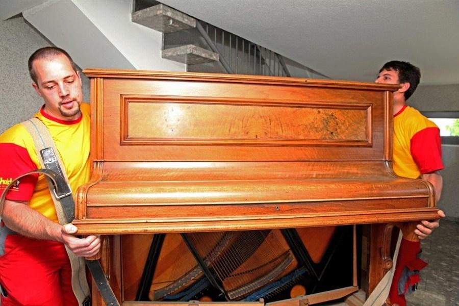Klavier-Transport mit Heider