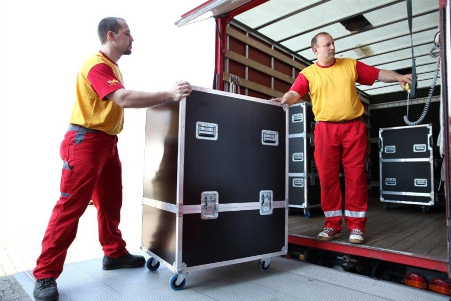 Transport von Eventmaterial